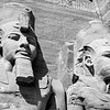 """Ramses II and Nefertari at Abu Simbel"""