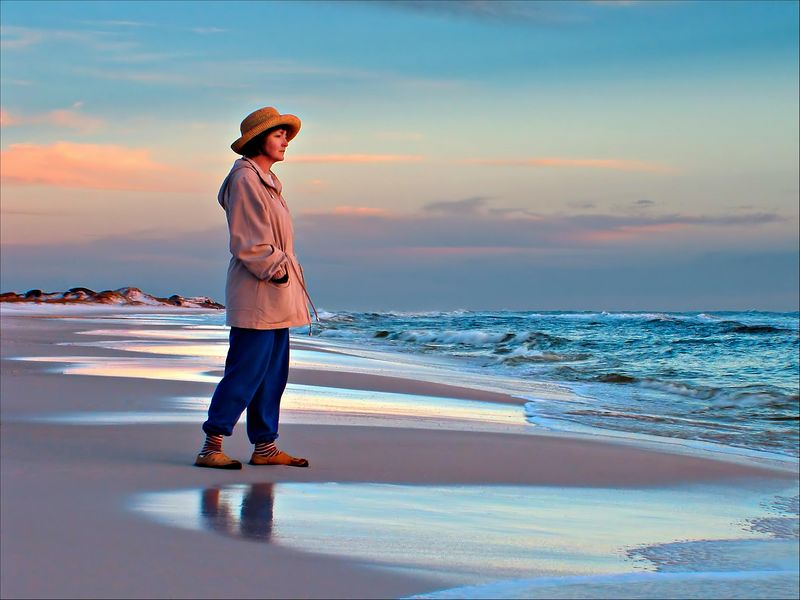 """Janie at Sunset""<br /> Seagrove Beach, FL"