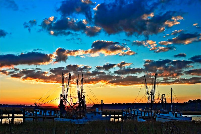 """Shrimpers""<br /> Tybee Island, GA"