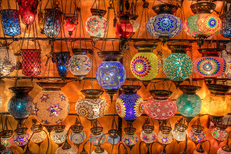 """Mosaic Lamps""<br /> Kusadasi, Turkey"