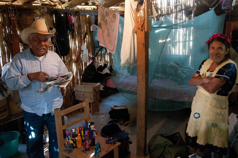 In the poor, rural village of La Unión my driver took me from house to house which were scattered along the countryside. Here Martin Santiago shows me his carvings.
