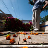 Flowers being delivered outside Oaxaca's main cemetery, Panteón San Miguel, for the upcoming Day of the Dead.