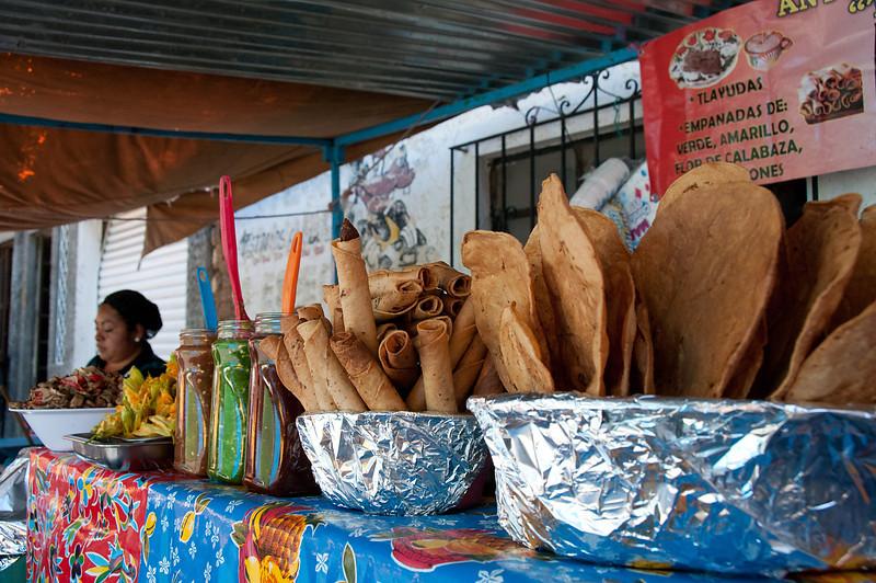 Food stall in Oaxaca.