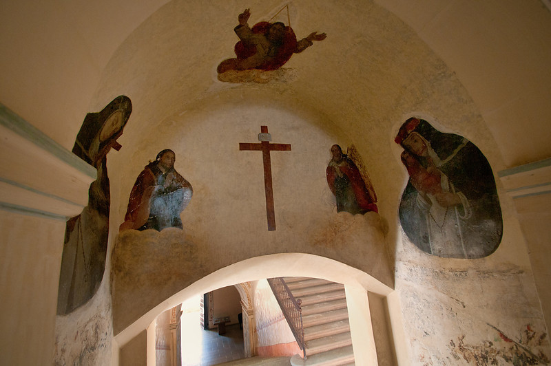 Frescos can still be seen around the monastery.