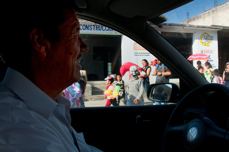 "I hired a driver to take me to the rural ""town"" of La Unión Telalapam. On the way home a parade broke out."