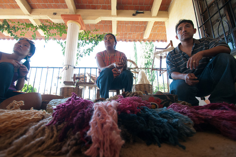 The town boasts hundreds of weavers.