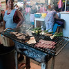 You can buy food at the market and get it grilled to your liking.