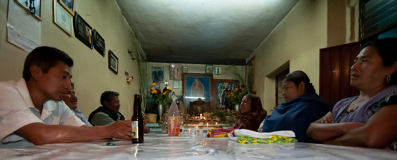 The Night of the Dead celebration is a 24-hour affair, beginning at three p.m. on November 1 and continuing until 3 p.m. on November 2. During the night, our group visited 4-5 homes.