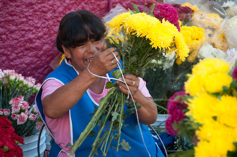 Back in Guanajuato it was time to get flowers to decorate the graves.