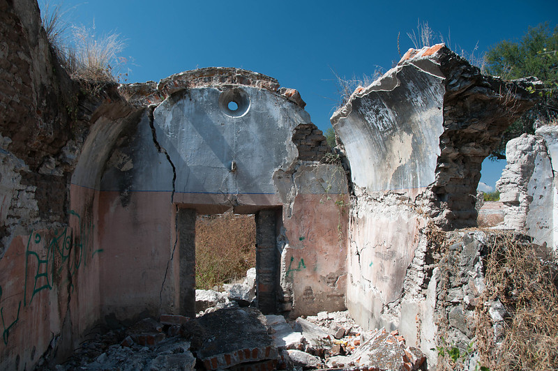 We explored ruins nearby, which, by the way, are for sale.