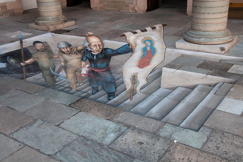Inside the Regional museum, we were delighted with incredible 3-D chalk art.