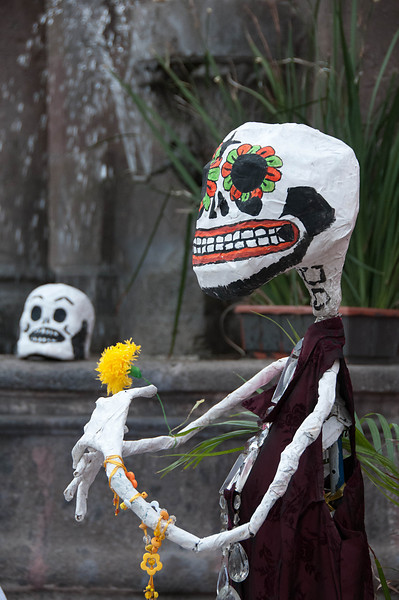 The town was getting ready for Day of the Dead.