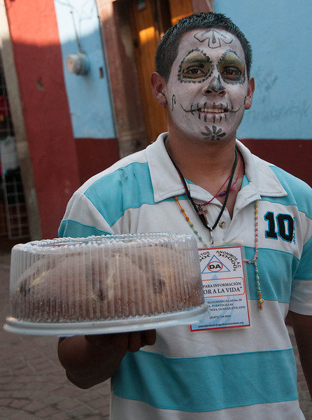 Merchants sold Day of the Dead pastries.