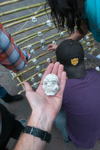 This artist gave away his skull art.