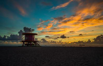 Miami Beach Fire Sky