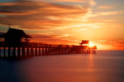 West Coast Sunset over the Pier