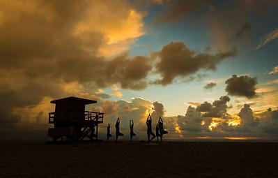 Yoga in the mornings in Miami Beach