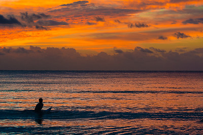 Surfers often are guided by the sun