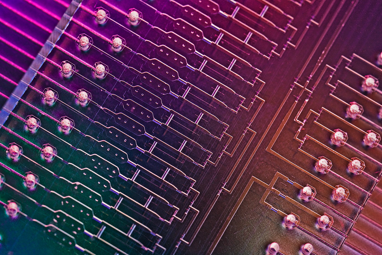 Close up of Stem Cell Microfluid Lab on a Chip. (Cultures regular skin cell and turn it into stem cell) , Fluidigm