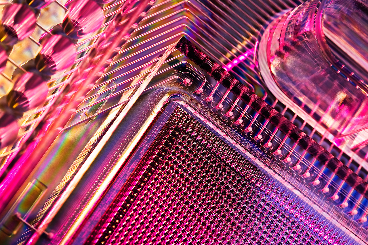 Close up of 48X48 DNA Sequencing Access Array Chip, Fluidigm