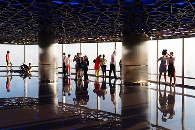 Floor 125, Burj Khalifa, the world's tallest man-made structure, Dubai