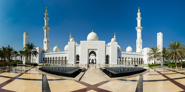 Front entryway to the Sheik Zayed Grand Mosque, Abu Dhabi