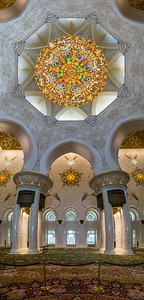 Glass chandelier inside the Grand Mosque, Abu Dhabi