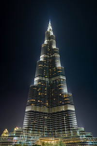 The Burj Khalifa, world's tallest man-made structure at 828 meters.