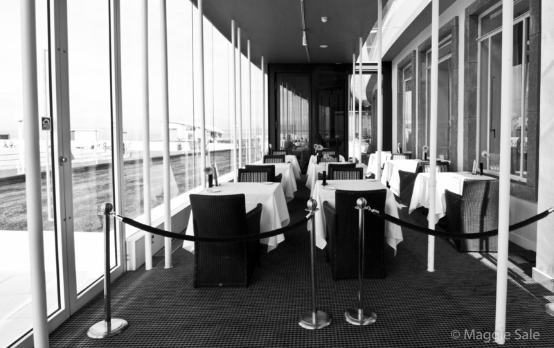 Glass lounge area