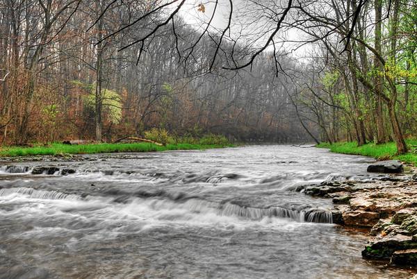 Spring Morning Anderson Falls Columbus, Indiana