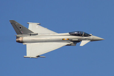 Reg: ZJ942		   Code: DH Operator: United Kingdom - Royal Air Force Type:  Eurofighter EF-2000 Typhoon FGR.4		   C/n: BS035   BAE Systems and the Eurofighter consortium used this 11 Squadron RAF Typhoon as a sales demonstrator during the Dubai Air Show in 2011, attempting to persuade local Air Force's to purchase the aircraft ahead of competition from the Rafale.     Photo Date: 13 November 2011 Photo ID: 1200416