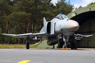 Reg: 38+42 Operator: Germany - Luftwaffe Type:  McDonnell Douglas F-4F Phantom II		   C/n: 4731   JG.71 Phantom posing outside its HAS at Wittmund Air Force Base, during the 2012 open house.     Photo Date: 05 June 2012 Photo ID: 1200413