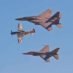U.S. Air Force Heritage Flight 2010 Homestead Air Show