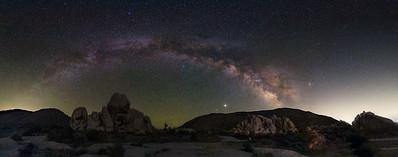 Milky Way Arch at Ryan Mountain Trailhead.