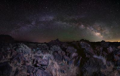 Milky Way Panorama at Fossil Falls.