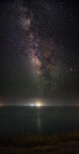 Milky Way galactic center from Arroyo Hondo.