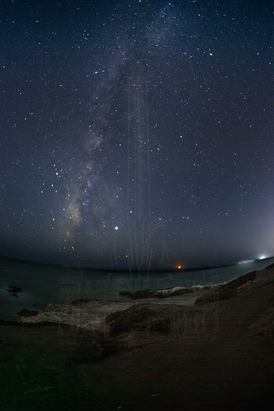 Milky Way with dim moonlight.