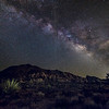 Milky Way over Joshua Tree at sunset.