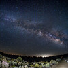 Milky Way on the Boy Scout Camp Road in Lockwood Valley.(Fisheye)