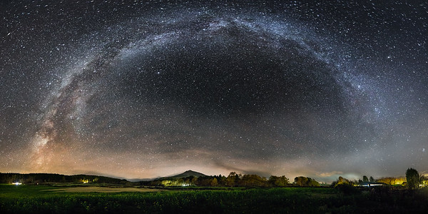 Milky Way above Bennachie, Aberdeenshire