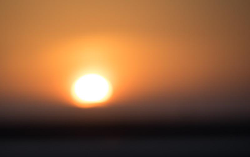Sun Setting Softly