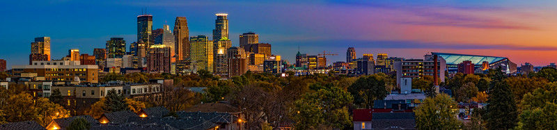 Sunrise over Minneapolis-Panoramic