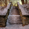 Snowtopped stone steps