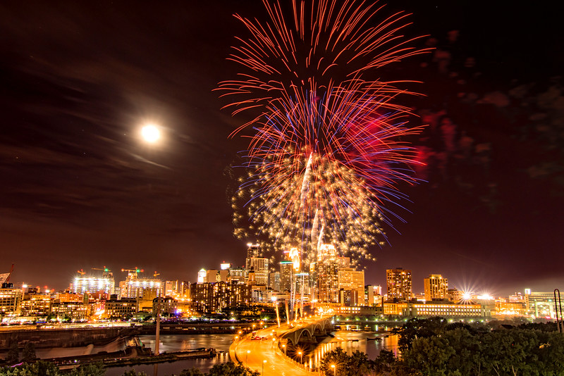 Minneapolis Aquatennial Fireworks 2015