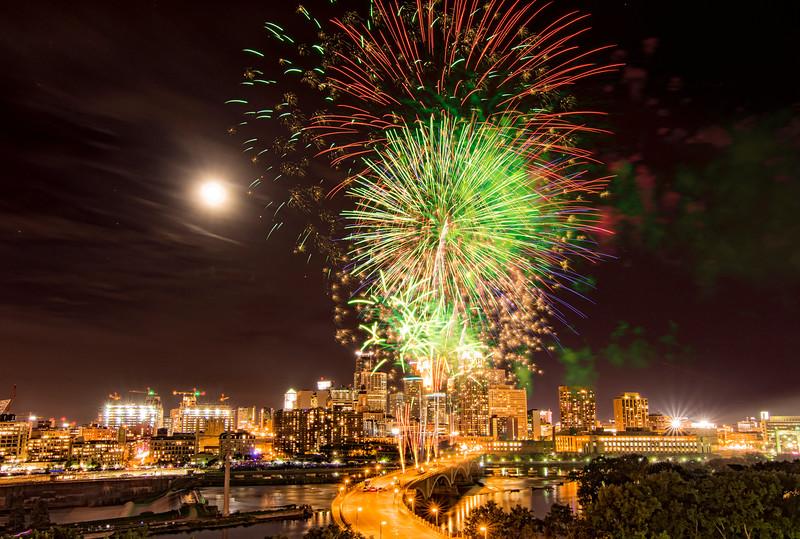 Minneapolis Aquatennial Fireworks 2015