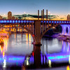 Panoramic of the Bridges of Downtown Minneapolis
