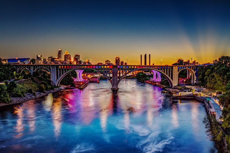 Sun Flare Over Minneapolis