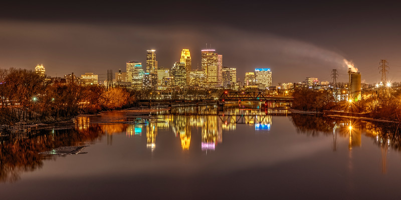 Downtwon Minneapolis Reflected