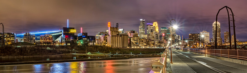 Stone Arch Bridge leading into Minneapolis