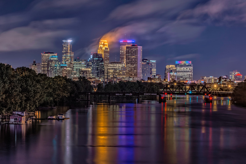 A Cloudy Night in Minneapolis